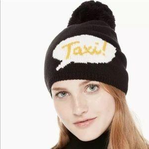 Kate Spade New York Taxi Pom Beanie Hat  NWT $58
